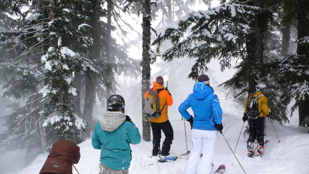 Heli-skiing helisking