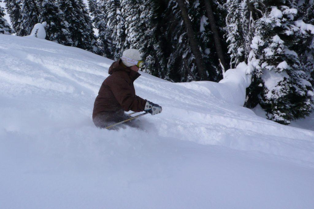 heli-skiing modrá lanovka