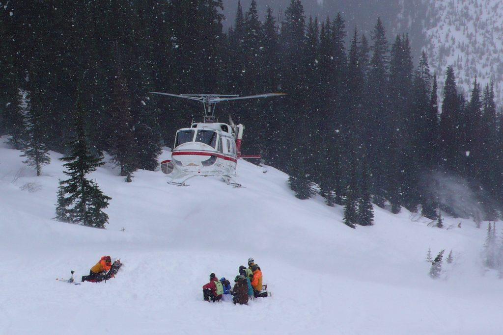 heli-skiing selkirk britská kolumbia