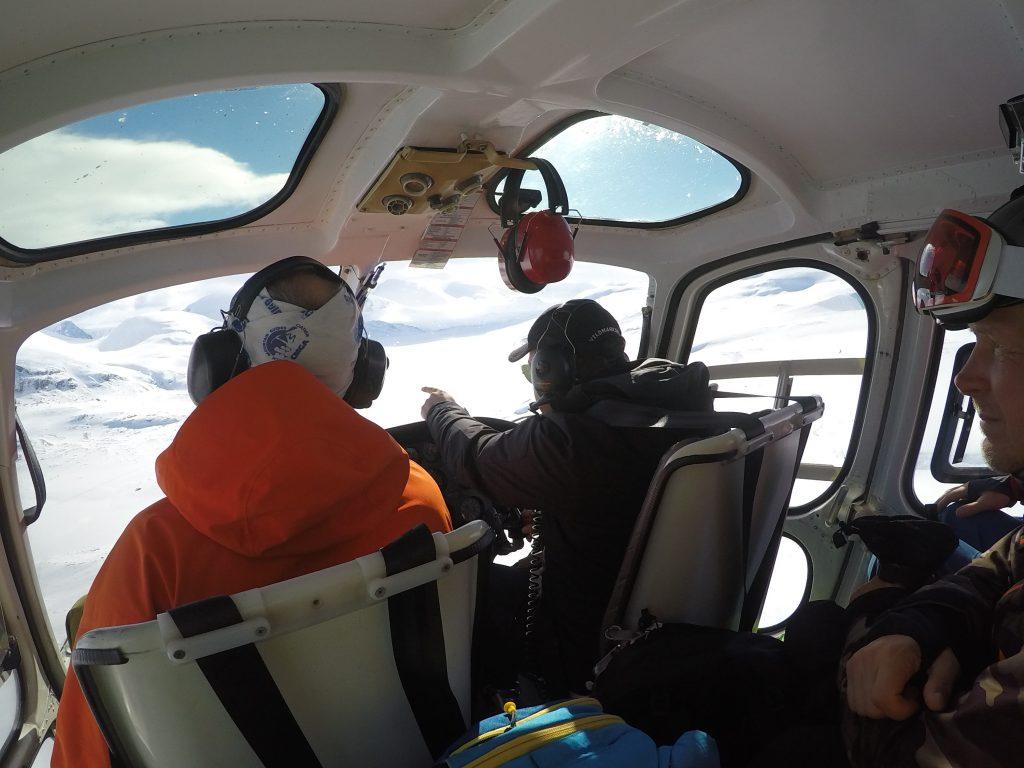 Heli-skiing Björkliden kiruna riksgränsen