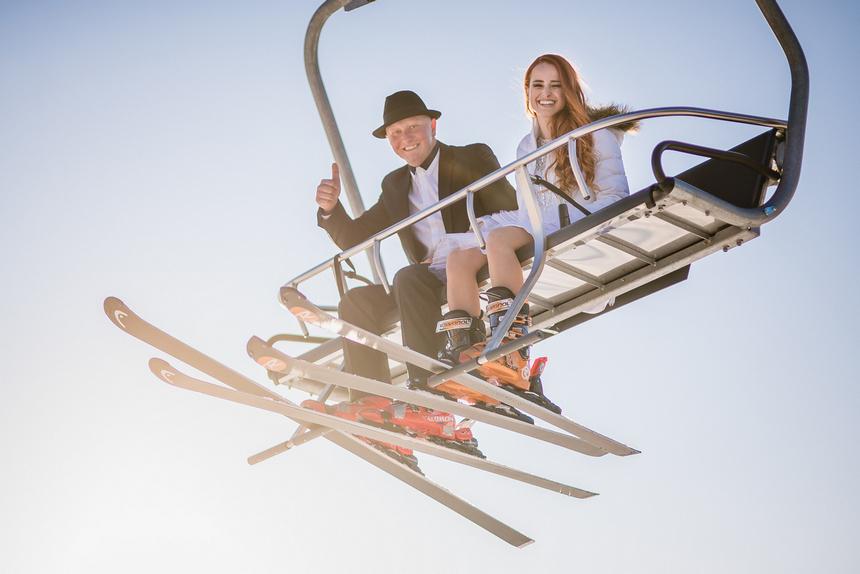 Svadba na lyžiach