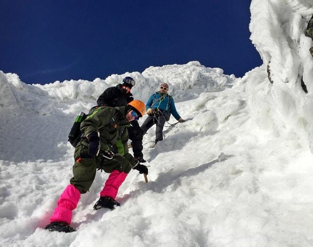 S horským vodcom v zime